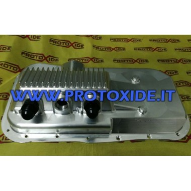 CNC crankcase for Lancia Delta Coupe 16v Q4 dry carter Water and oil radiators, oil support, fans and pans
