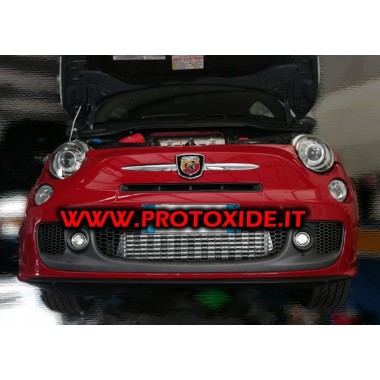 "Front intercooler ""kit"" for specific 500 Abarth Air-Air intercooler"