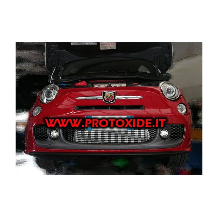 Intercooler frontale KIT specifico Fiat 500 Abarth NUOVA VERSIONE Intercooler Aria-Aria