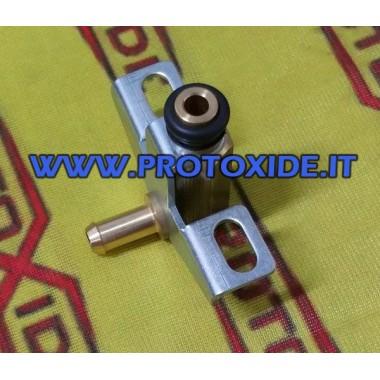 Adattatore flauto per regolatore di pressione benzina esterno Fiat Uno turbo 1.400