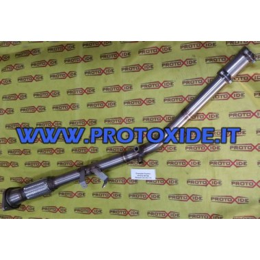 Downpipe exhaust eliminates dpf fap Renault Clio DCI 1.5 Downpipe Turbo Diesel and Tubes eliminates FAP
