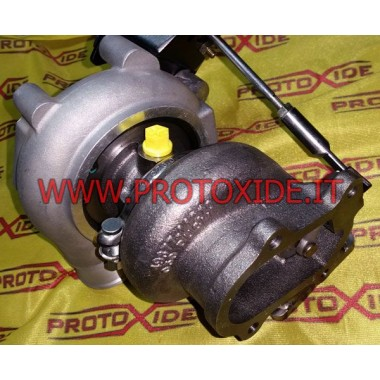 TD04 turbo 500 Abarth - GrandePunto - Mito 1.4 16v Turbochargers op race lagers