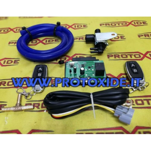 COMPLETE wireless kit for opening the exhaust system with remote control