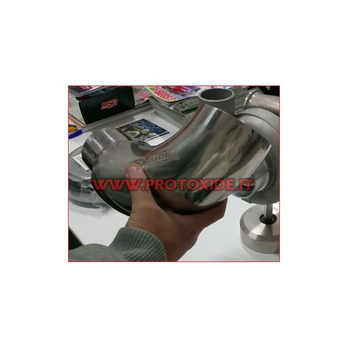 90 ° cotovelo silicone reduzido 76-60mm