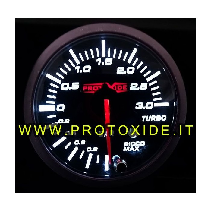 Medidor de pressão de Turbo com memória de alarme e 52 milímetros de -1 a 2 bar