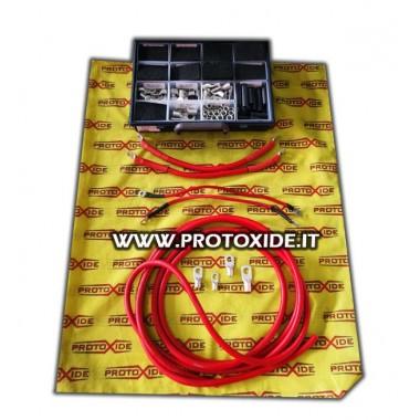 Kabel akumulatora - alternator miedziany pokryty silikonem o dużej średnicy Przewody akumulatora