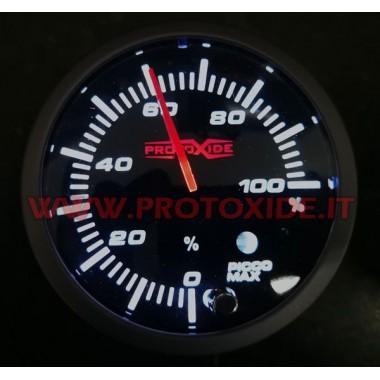 Percentatge d'injecció de comptadors utilitzats amb una memòria màxima de 60 mm Mesuradors de temperatura