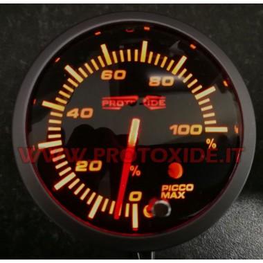 Percent Duty Meter Injector يستخدم مع ذاكرة الذروة 60mm قياس درجة الحرارة