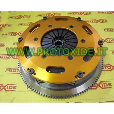 Steel flywheel kit with twin disc clutch Fiat Uno Turbo 1300 Flywheel kit with reinforced twin-disk clutch