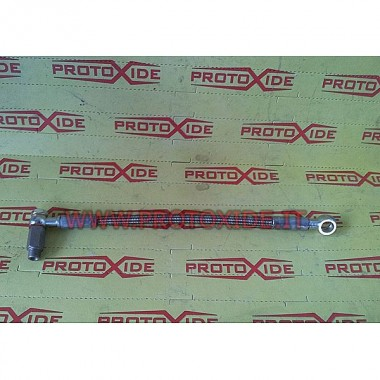 Oil pipe in metal sock for Punto GT - Uno Turbo 1400 8v Turbo TD04 Oil pipes and fittings for turbochargers