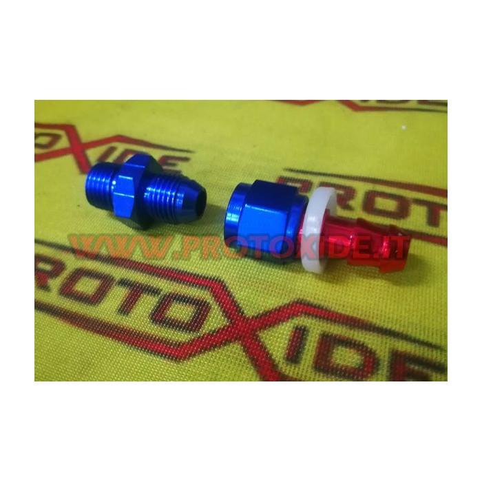 Racor hembra 6AN para manguera giratoria de 8 mm con boquilla 6an Tuberías de combustible - aceite trenzado y accesorios aero...