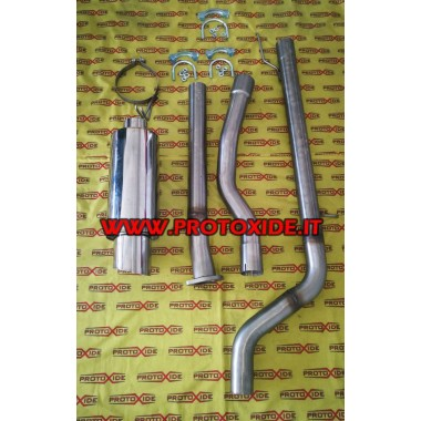 Full exhaust muffler plus 2000 Fiat Coupe 20v turbo 70mm stainless