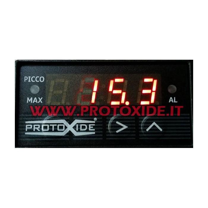 Meter lufttemperatur - Kompakt - med peak hukommelse max 200 grader