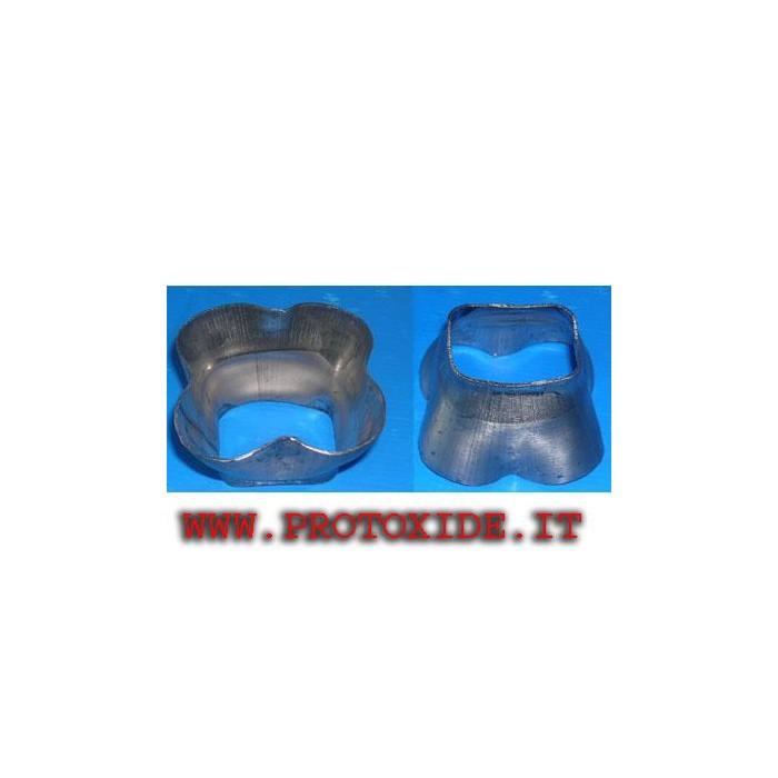 Scatola innesto collettore di scarico 4 in 1 acciaio inox CORTA Flange per Turbo, Downpipe e Wastegate