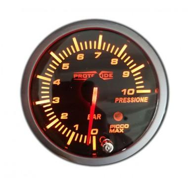 Indicador de presión de combustible y aceite con memoria de 0-10 bar 60 mm Manómetros Turbo, Gasolina, Aceite