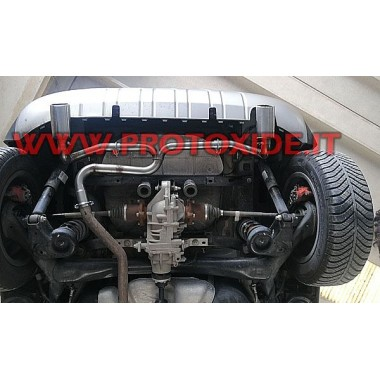 Marmitta scarico doppio posteriore per Fiat Panda Cross 1300 turbodiesel mj 95hp