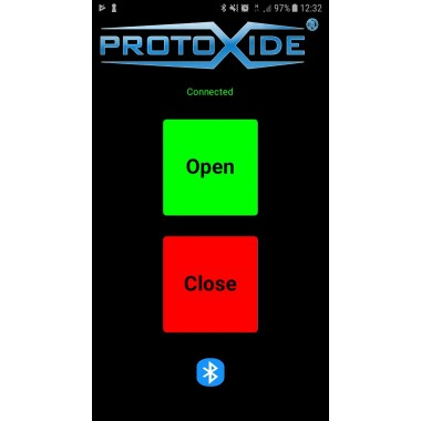 Rozhraní pro otevření výfuku tlumičů s technologií Bluetooth pro Android Ventily vyfukují výfukový ventil