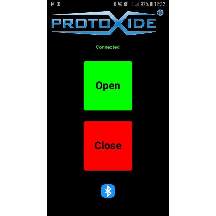 Interface d'ouverture d'échappement du silencieux avec Bluetooth pour Android