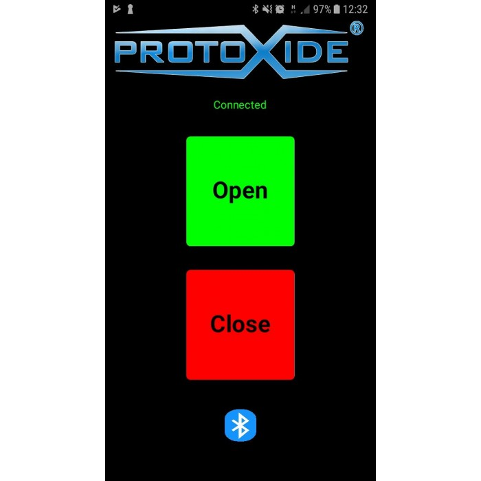 Utsläppsgränssnitt för ljuddämpare med Bluetooth för Android