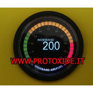 AirFuel di precisione con sonda wideband AFR mod. SMOKE 52mm stechiometrico larrgabanda Carburazione Airfuel Stechiometrico