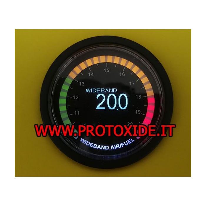 AirFuel precision probe with wideband mod. 52mm SMOKE Airfuel gauge