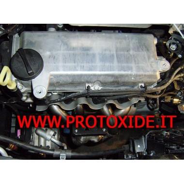 Collettore scarico Hyundai I10 1.1 Turbo con wastegate esterna Ocelové rozdělovače pro turbodieselové motory