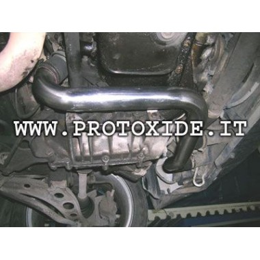 Stalen kokers Fiat Punto GT met siliconen fittingen blauw Specifieke sleeves voor auto's