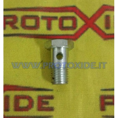 1/8 tornillo hueco perforado para entrada de aceite de turbocompresor sin filtro Accesorios Turbo