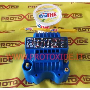 Carrete azul superpoderoso con conexión macho Potencias y bobinas impulsadas
