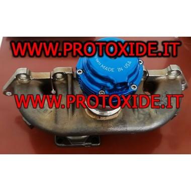 Ni-resist udstødningsmanifolds til Fiat alfa Lancia 500 abarth med ekstern wastegate forbindelse Samlere i støbejern eller støbt