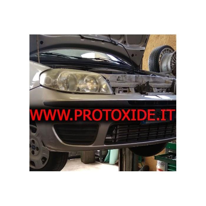 Intercooler frontal instalado para Peugeot 207 de alumínio