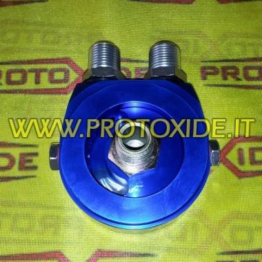 Adaptador sandwich para la instalación de aceite de radiador Fiat específico Ø 108 Soporta filtro de aceite y accesorios enfr...
