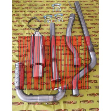 Full exhaust muffler Fiat UNO Turbo stainless steel Complete stainless steel exhaust systems