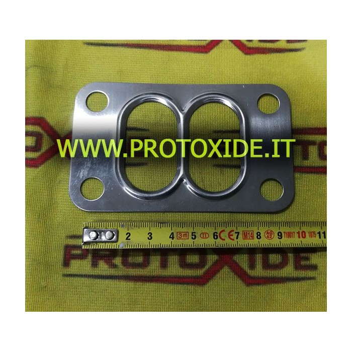 T4 FLANGIA-twinscroll acciaio inox