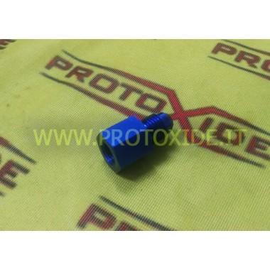 Tepel 6AN mannelijk - 1-8 npt rechte vrouwelijke fitting Reserveonderdelen voor distikstofoxidesystemen