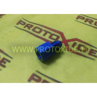 Nipple 12AN male - 1-8 npt female straight fitting Spare parts for nitrous oxide systems