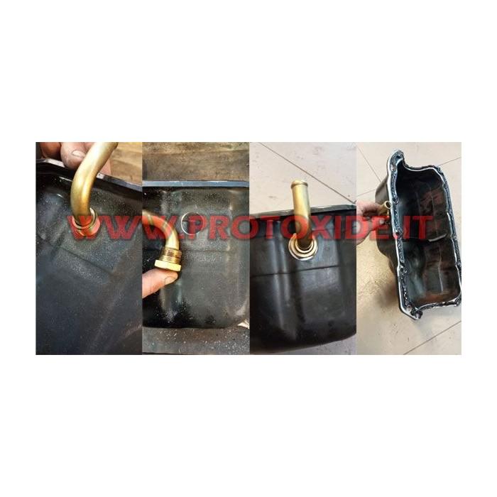 Turboolietafløbsarmatur til oliesump