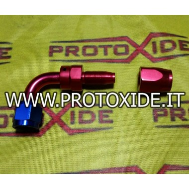 Aircraft female 90 degree bend fitting 8AN for tube fitted Aeronautical fittings for petrol - oil - water pipes