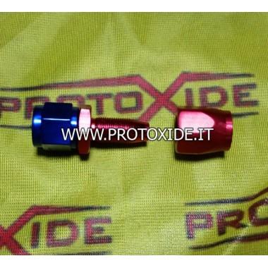 Straight female 10A aeronautical fitting for tube Aeronautical fittings for petrol - oil - water pipes