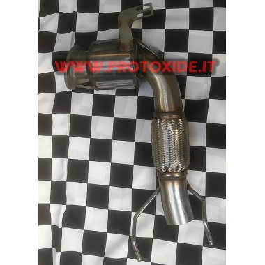 Catalysed exhaust downpipe for MiniCooper R56 Turbo-Peugeot 207 GTI