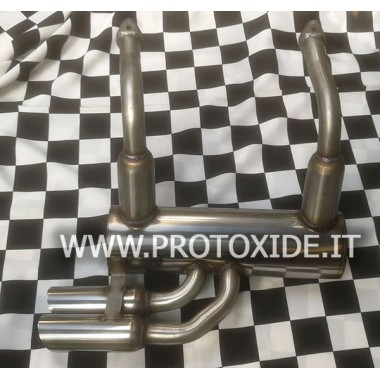Exhaust muffler in stainless steel for Vecchia Fiat 500 2 cylinders Exhaust mufflers and tip terminals