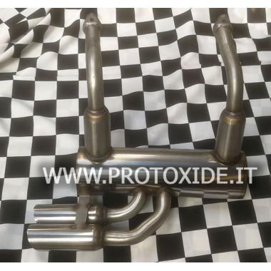 Udstødning lyddæmper i rustfrit stål til Vecchia Fiat 500 2 cylindre Udstødningslygter og klemmer
