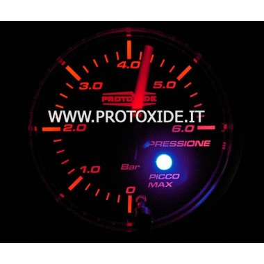 Manómetro 2 en 1 Presión de aceite y presión de combustible en un solo instrumento Manómetros Turbo, Gasolina, Aceite