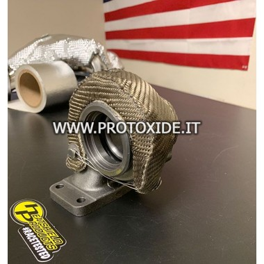 Mitsubishi TD04 turbocharger blanket semi-rigid heat protection hood Heatshield products and wrap