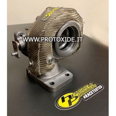 Capucha semirrígida de protección térmica con manta de turbocompresor Mitsubishi TD04 Bendas de protección contra calor