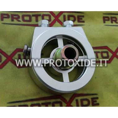 Adaptador de soporte del filtro de aceite para instalar sensores de temperatura de presión de aceite Soporta filtro de aceite...