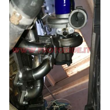 Colector de evacuare din oțel Turbo convertire Fiat Punto - Grandepunto 1.200 Fire TURBO ABOVE Colectoare de oțel pentru moto...