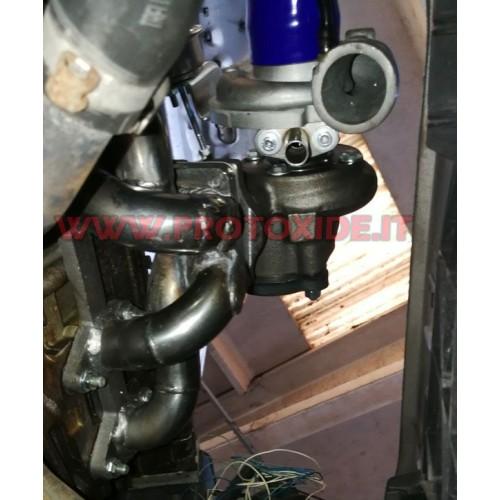 Auspuffkrümmer aus Stahl Turbo Umbau Fiat Punto - Grandepunto 1.200 Fire TURBO ABOVE Stahlverteiler für Turbo-Benzinmotoren