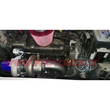 スチール製エキゾーストマニホールドターボコンバージョンフィアットプント-グランデプント1.200ファイアーターボアボブ ターボガソリンエンジン用スチールマニホールド