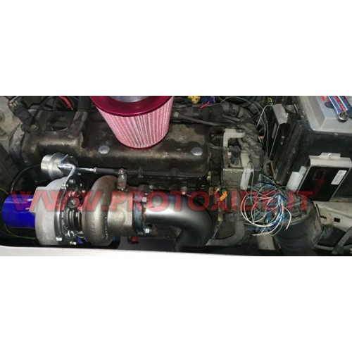 Steel exhaust manifold Turbo conversion Fiat Punto - Grandepunto 1.200 Fire TURBO ABOVE Stainless steel manifolds for Turbo G...